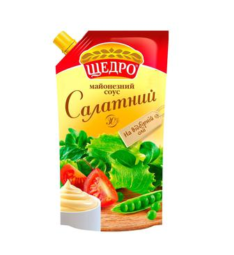 Майонезный соус Щедро Салатний 30% 350г