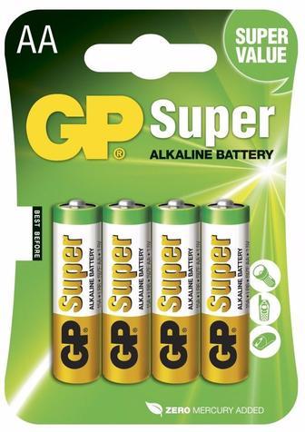 Батарейки GP 15A-U4 Лугова LR6 AA, 4 шт