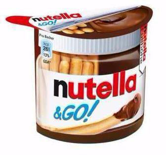 Горіхова паста з какао та хлібні палички Nutella 54г