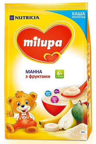 Каша Milupa молочная манная с фруктами (с 6 месяцев) 210 г