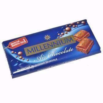 Шоколад Милениум 90 г молочний пористый