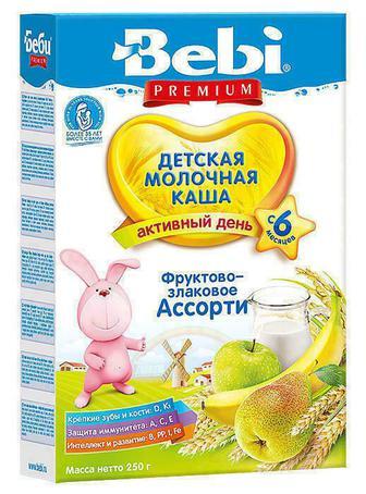 Каша Kolinska Bebi Premium фруктово-злаковое ассорти с 6 месяцев 250 г