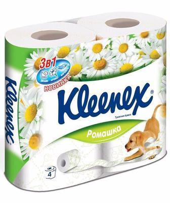 Туалетний папір Kleenex Ромашка 4шт