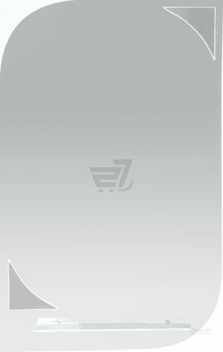 Дзеркало Пелюстка 400х690 з поличкою