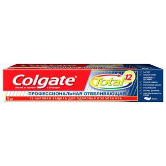 Зубна паста Colgate Total 12 професійне відбілювання 75мл