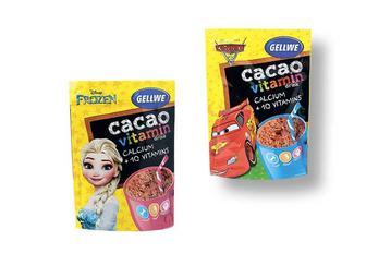 Напій «Frozen»/«Cars» швидкорозчинний з какао, збагачений вітамінами та кальцієм Gellwe 150 г