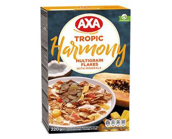 Пластівці AXA Harmony, мультизернові з тропічними фруктами, 220г
