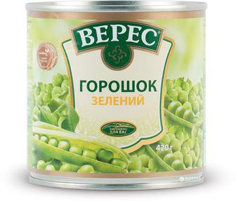 Горошек зеленый Верес 420 г