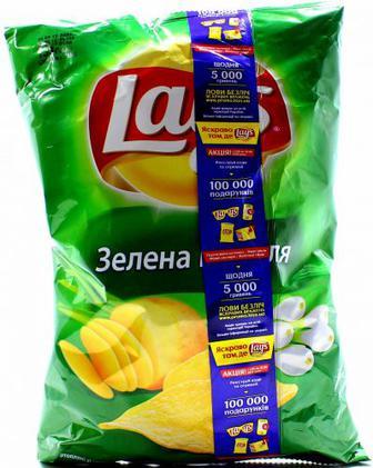 Чіпси Lays Зелена цибуля 133г х20