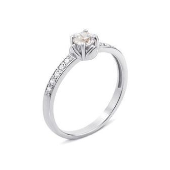 Золотое кольцо с фианитами Swarovski Zirconia. Артикул 12155/02/1/84 (12155/б SW)