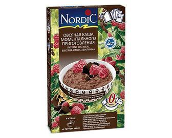 Каша вівсяна Nordic, з чорним шоколадом та малиною, 6×35г