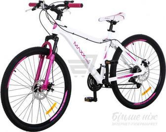 """Велосипед MaxxPro 15"""" F 100 біло-рожевий"""