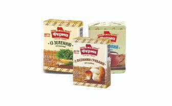 Сир плавлений з лісовими грибами,із зеленню, вершковий 55% Ферма, 90 г