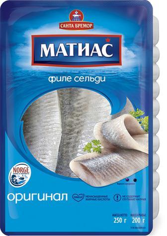 Филе сельди деликатесное Матиас Санта Бремор 240г