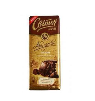 Шоколад Світоч Авторський класичний чорний 85г