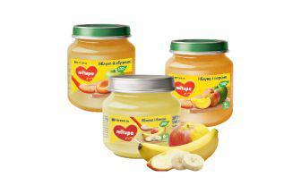 Пюре фруктове для дітей від 6 місяців Мілупа, 100 г