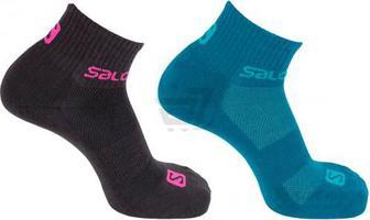 Шкарпетки Salomon EVASION 2-PACK 402771 р. M чорно-бірюзовий