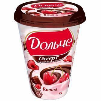 Десерт сирковий з шоколадною глазур'ю, 3,4%  President 400 г