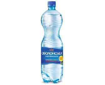 Вода мінеральна «Оболонська» сильногазована, 1,5 л
