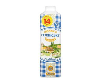 Молоко пастеризоване «Селянське» 2,5%, 950г