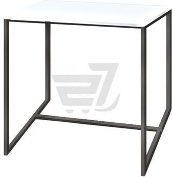 Стіл журнальний Куб 450 перлинний/чорний 450x450x465мм Commus