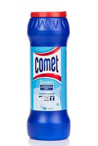 Чистящий Порошок Comet с дезинфицирующими свойствами Океан з хлоринолом, 475г
