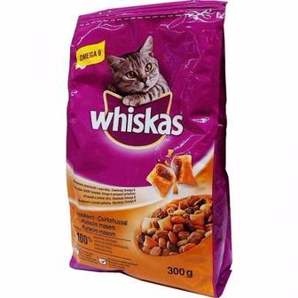 Корм Whiskas з куркою для дорослих котів, 300 г