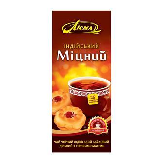 Чай чорний з бергамотом або Міцний індійський Лісма 20/25 пакетиків