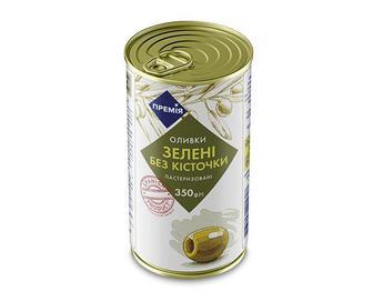 Оливки «Премія»® зелені без кісточки, 350г