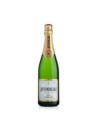Акция ▷ Вино ігристе біле брют, 3 роки витримки напівсухе, Артемівське,0,75 л