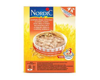Пластівці Nordic 4 види зернових, 600г