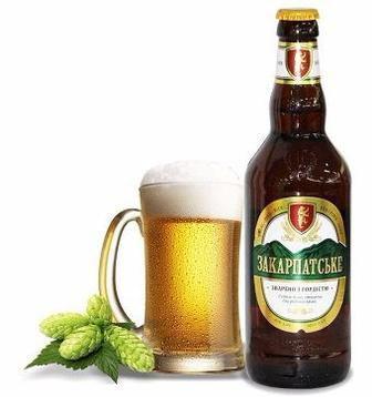 Пиво Закарпатське, Оригінальне,Перша Приватна Броварня, 1л
