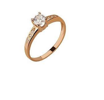 Золотое кольцо 585 пробы с фианитом