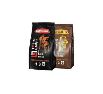 Кава мелена Espresso,  ТОТТІ, пакет 250 г Кава мелена Ristretto,  ТОТТІ, пакет 250 г