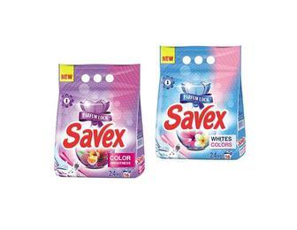 Порошок пральний синтетичний Parfum Lock, Color Brightness/Whites&Colors Savex 2,4 кг
