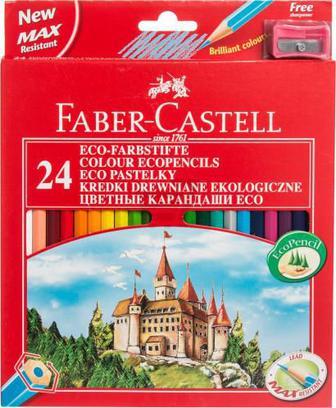 Олівці кольорові 24 шт. Faber Castell