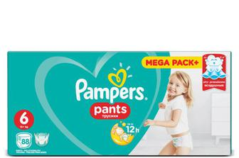 Підгузки-трусики Pampers Pants Mega Pack+ Extra Large (15+ кг) 88 шт./уп