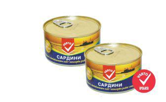 Сардина натуральна з додаванням олії з ключем Варто, 230 г
