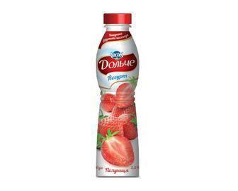 3099 Йогурт 2,5% зі смаком персику або полуниці Дольче 500 г
