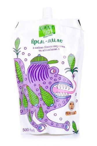 Мыло жидкое Green Way Prima Maria с маслом белого персика и витамином А 500 мл