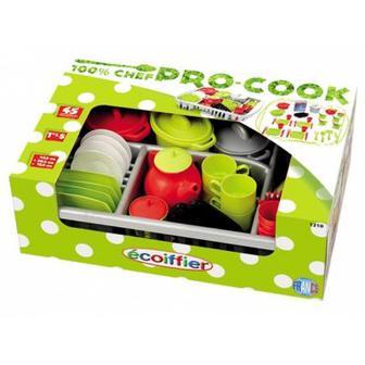 Игровой набор посуды Ecoiffier Pro-Cook (1210)
