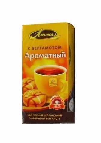 Чай чорний Ароматний з бергамотом Лісма 20пак