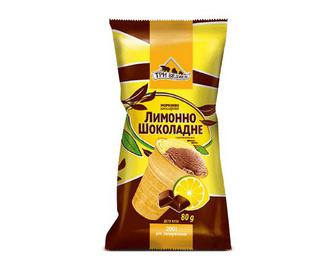 Морозиво Три ведмеді, лимонно-шоколадне, 80г