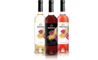 Вино Діаманте неро напівсолодке червоне, Ді Фіоре напівсолодке біле, Нуволе Роса напівсолодке рожеве Маренго,075л