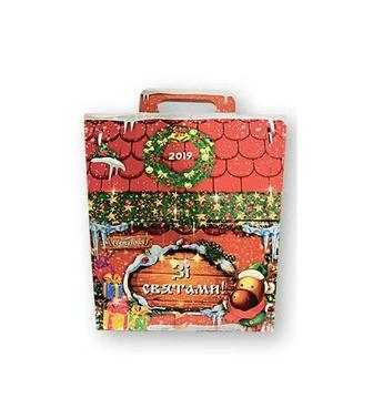 Набір подарунковий з кондитерських виробів Новорічна домівка Своя Лінія 350 г