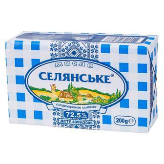 Масло сладкосливочное 72,5% тм селянське 200г