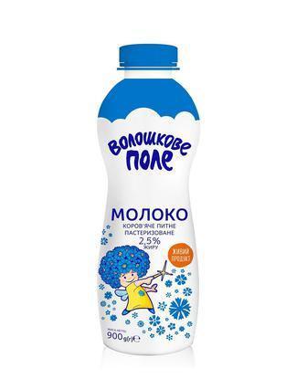 Молоко пастеризованное 2,5% Волошкове поле, 900г