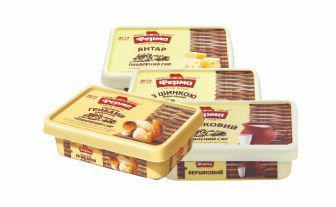 Сир з лісовими грибами, з шинкою, вершковий плавлений, Янтар 60% Ферма 180 г