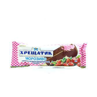 Морозиво плодово-ягідне в кондитерській глазурі Хрещатик 80г