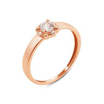Золотое кольцо с фианитами Swarovski Zirconia. Артикул 12653/SW